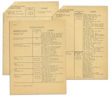 Original President John F. Kennedy Motorcade Seating Plan for Historic 1963 Berlin Trip