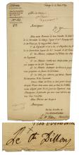 French Revolutionary War General Arthur Dillon Document Signed -- 5 Years Before He Was Guillotined in the Reign of Terror