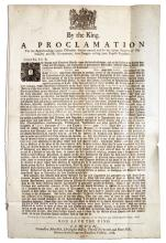 Broadside Issued by King Charles II Calling on His Subjects to Act as Bounty Hunters -- 1678