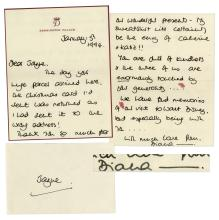 Princess Diana Autograph Letter Signed in 1994 on Kensington Palace Stationery -- ''...You are full of kindness and the three of us are enormously touched...we have fond memories...''