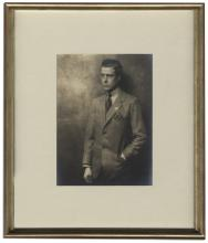 Dramatic King Edward VIII Photograph Owned by Edward & Wallis -- From the Famous Sotheby's 1997 Auction of Property of The Duke & Duchess of Windsor