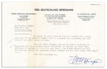 Nazi ''Public Enemy Number One'' Otto Strasser Typed Letter Signed -- ''...I know...how short today '1000 years' are...''