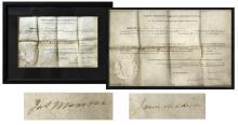James Madison Document Signed