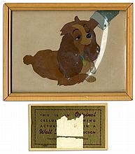 Disney Animation Cel From ''Lady and the Tramp'' -- With Disney Seal