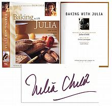 Julia Child Signed First Edition of ''Baking With Julia''
