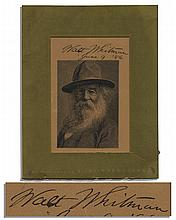 Rare Walt Whitman Signed Portrait Engraving -- With PSA/DNA COA