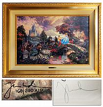 Thomas Kinkade Artist Proof Limited Edition Signed -- ''Cinderella Wishes Upon a Dream''