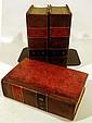 3V Miguel De Cervantes HISTOIRE DE L'ADMIRABLE DON QUICHOTTE DE LA MANCHE 1786-1787 Antique Decorative Binding St. Martin Translation Plates