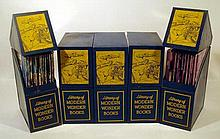 Science History VINTAGE LIBRARY OF MODERN WONDER BOOKS IN ORIGINAL TINS Anthropology Technology Culture Myth Electricity Native American Indians Firemen Animals Airplanes Boats