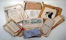 Hand-Written Receipts ANTIQUE CORRESPONDENCE BILLHEADS & EPHEMERA Cards California Japan Radiomex Telegraph Loring Short & Harmon NY Supreme court Railroad Summons