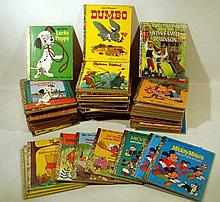 82V Walt Disney Mother Goose VINTAGE LITTLE GOLDEN BOOKS Mickey Mouse Cinderella Snow White Mouseketeers Robin Hood Seven Dwarfs Pinocchio Bambi Mary Poppins The Sword in the Stone Merlin Arthur Uncle Remus Pluto Goofy Rescuers Space Ship Animals