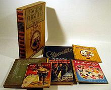 7V Walt Disney Magic VINTAGE AND ANTIQUE COLLECTIBLE ESTATE BOOKS Childrens Furnishings Queens College Flushing Hardy Boys Yearbooks Slip Case Cinderella Pinocchio Hamilton