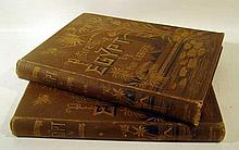 2V Georg Ebers EGYPT DESCRIPTIVE HISTORICAL AND PICTURESQUE 1880/1883 Antique Egyptology Plates Vignettes Decorative Binding