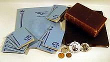 Books Pins LINCOLN EPHEMERA Stamps Unused Plate Blocks Album Credo Emancipation Proclamation Token Coin