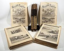 3V + 75PCS ANTIQUE SCIENTIFIC AMERICAN 1863-1890 Science mechanics Chemistry Manufacturing Machinery Agriculture Engineering Technology Illustrations