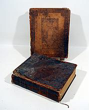 2V Mills Births ANTIQUE FAMILY BIBLES 1810 1834 American Genealogy 1700s Births Deaths Hand Stitching