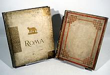 2V Brogi Pisa ANTIQUE ALBUMS OF PHOTOGRAPHS OF ROME & ITALY c1895  Roman Italian Artwork Caesar Fresco Painting Sculpture Architecture