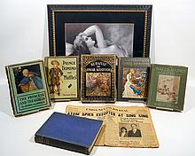 6V + 2Pcs German Print ANTIQUE ESTATE BOOKS & EPHEMERA Children's Literature Water Babies Fairy Tales Goblin Color Plates Khayyam Dulac Spies Sing SIng