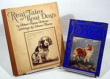 2V Literature ANTIQUE DOG-RELATED BOOKS BY ALBERT PAYSON TERHUNE The Heart Of A Dog Real Tales Dogs Diana Thorne Etchings Breeds