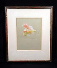 Robert Dash ABSTRACTED LANDSCAPE 1962 Signed Impressionistic Pastel Kulicke Frame New York Artist American Art