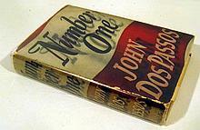 John Dos Passos NUMBER ONE A NOVEL 1943 Author-Signed Novel American Literature Dust Jacket