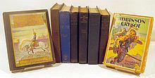 8V Twain Tom Sawyer ANTIQUE ILLUSTRATED CHILDREN'S BOOKS Alcott Little Women Verne Under Sea Baldwin Sigfried Knowles Knights Boy's King Arthur Lanier Wyeth