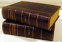 2V ENCYCLOPAEDIA OF CHEMISTRY THEORETICAL PRACTICAL & ANALYTICAL 1877 Antique Science Arts Manufacturing Plates Decorative Leather