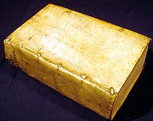 Diogenes Laertius DIGENOUS LAERTIOU PERIBION 1593 Antique Philosophy Bilingual Latin Greek Text Henri Estienne Imprint Vellum Binding