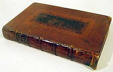 William Somervile OCCASIONAL POEMS TRANSLATIONS FABLES TALES 1727 First Edition Antique English Poetry Odes Songs Decorative Leather