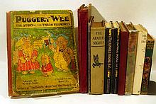 10V Kipling Jungle Book VINTAGE & ANTIQUE CHILDREN'S BOOKS Dust Jackets Pyle Crockett Arabian Nights French-Language L'Homme Roi Puggery Wee Earth's Treasures Maud