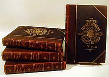 4V Thomas Meehan THE NATIVE FLOWERS AND FERNS OF THE UNITED STATES IN THEIR BOTANICAL HORTICULTURAL & POPULAR ASPECTS 1878-1881 First Edition Chromolithographs Decorative Leather