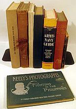 8V Field Guide Army Navy VINTAGE & ANTIQUE MILITARY HISTORY Land Mines Booby Traps Neely's Photographs Phillipines Civil War United States Dust Jackets