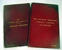 2V ANTIQUE NATIONAL TELEPHONE COMPANY DOCUMENTS Purchase Agreement License Test Diagrams Correspondence Contract