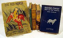 5V Singed Boyd  ANTIQUE CHILDREN'S BOOKS FEATURING DOGS & HORSES Ouillarde Wiese Illustrated Sled Digs Silver Chief Silversheene Sewell Black Beauty Red Horse Moeschlin Dust Jackets