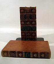 4V James Boswell THE LIFE OF SAMUEL JOHNSON 1816 Antique Literary Biography English Literature Portrait Fold-Out Plates Leather Binding