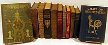 11V Literature History DECORATIVE ANTIQUE ESTATE BOOKS Gardening Ornithology Gilt Detailing Darwin Lucas Lamb Moore Potter Burgess Bloom In America
