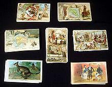 Ariosa Coffee ANTIQUE ARBUCKLE TRADE CARDS Chromolithograph Society International Views History Sports Cuba Algeria Afghanistan Greenland United States Native American Industry Cotton Pioneers Pilgrims