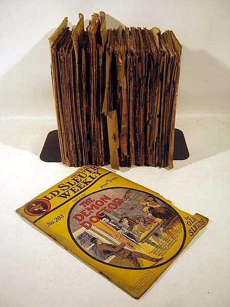 70+ Pc. Antique PULP MAGAZINES 1920s-1930s Boys' Fiction Westerns Mysteries