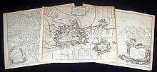 3Pcs War Of Spanish Succession ANTIQUE ENGRAVED BATTLE MAPS Military History Aire St Francis Wynendale Brabant Marlborough Averquerque
