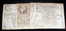 3Pcs War Of Spanish Succession ANTIQUE ENGRAVED BATTLE MAPS Military History Fortifications Ekeren Ostend Maestricht France Netherlands