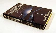 Steven Spielberg CLOSE ENCOUNTERS OF THE THIRD KIND 1977 First Printing Novel Science Fiction Classic Basis For Hollywood Film Dust Jacket