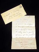 Vintage 1971 HANDWRITTEN ANDREW WYETH AUTOGRAPH LETTER Personal Stationery The Mill Chadds Ford Pennsylvania Lindsay Monument Man