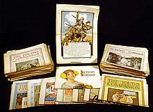 140 Pc. Antique Ephemera THE YOUTH'S COMPANION Magazine Periodical 1910s World War I Era Military Advertising Popular Literature Illustration