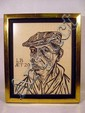 Leonard Baskin SELF-PORTRAIT 1951 Framed  Woodcut Modern U.S. Art