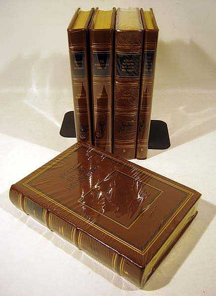 5V Easton Press Collector's Edition Fancy Bindings LEATHER-BOUND HEMINGWAY TITLES Torrents Of Spring By-Line Winner Take Nothing Dangerous Summer Across The River