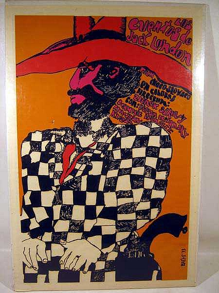 Eduardo Munoz Bachs ORIGINAL FILM POSTER 1973 Cuban Artist Czech Film