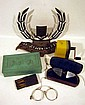 6 Pc. Vintage & Antique COLLECTIBLE ESTATE ITEMS Eyeglasses Humidor Menorah Pencil Sharpener Pince-Nez