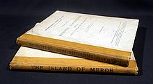 2V Francis Llewellyn Griffith /  John Winter Crowfoot THE ISLAND OF MEROE AND MEROITIC INSCRIPTIONS 1911-1912 Antique British Egyptology & Archaeology Fold-Out Plates