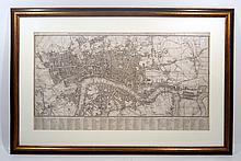 Original Scare Framed Antique Engraved LONDON MAP 1806 Neele Lambert Howgego 236 Oliver Cromwell Castle English Civil War Georgian Era Art