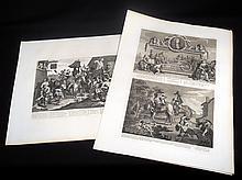 12Pcs Original Engravings WILLIAM HOGARTH 1822 Heath Edition Art Complete Intact Hudibras Series Satrirical Butler Rare Antique Copperplate